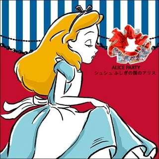 PrettyHouse獨家-日本直送! 東京迪士尼, Alice in Wonderland 髮圈/橡根 (實物圖, 包平郵)
