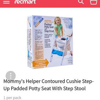 Child toilet seat with ladder