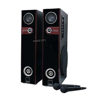 Konzert KS-302UB Home Theater Karaoke Speaker Audio System Set with Bluetooth / SD/ USB port (Black)  | Brand New | Cash On Delivery