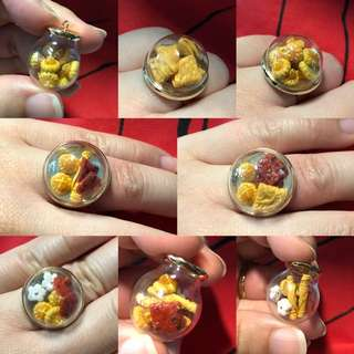 Cny goodies globe ring/necklace
