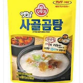 🚚 不倒翁韓式牛骨湯包350g