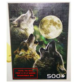 Jigsaw Puzzle - 500 pieces - 3 Wolf Moon