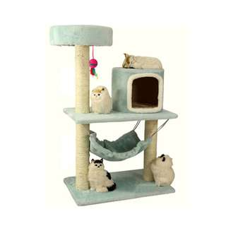 (Free delivery ) Medium Size Cat Condo (Blue)