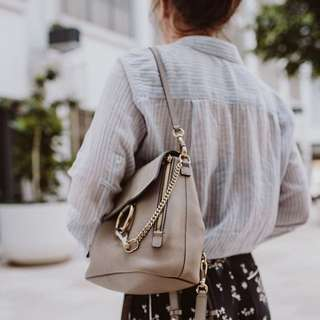 Chloe Faye Backpack Small in Motty Grey
