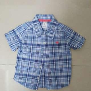 Blue checkers short sleeve shirt