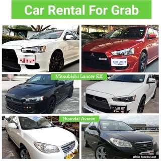 Mitsubishi Lancer EX & Hyundai Avante - Grab Rental