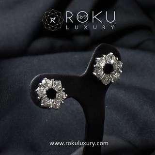 12 Circles Diamond Earrings
