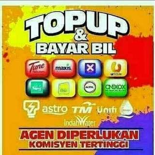 Mencari agen topup n kiosk payment bill