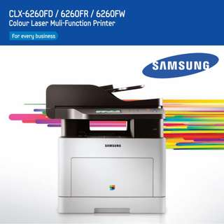 Samsung CLX 6260FW printer CLX-6260 Series Multi Function Color Laser Scanner