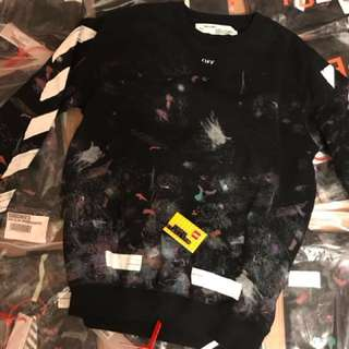 Offwhite galaxy sweater s m
