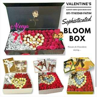 VALENTINE'S DAY SURPRISE DELIVERY FLOWER BOX