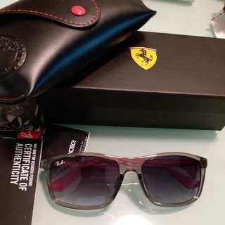 Original rayban  FERARRI LIMITED EDITION RB 4228 clear gray frame