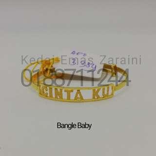 Bangle Baby Emas 916