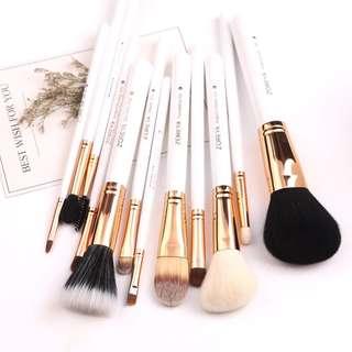 Zoreya 12pcs Makeup Brushes (Elegant White)