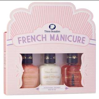 Direct from USA! Three Beauties French Manicure set