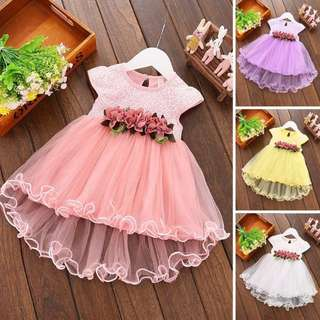 Baby Girl Kid Evening Lace Princess Dress