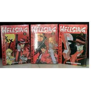 English US Hellsing Vols 1 2 3 Japanese Manga Comics