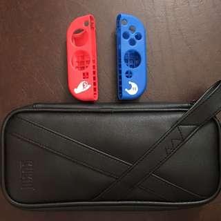 Nintendo Switch Case and Mario Joycon Covers