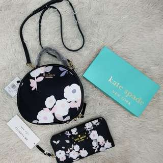 Kate spade sling bag and wallet