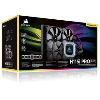BNIB - Corsair Hydro Series H115i PRO RGB 280mm Extreme Performance Liquid CPU Cooler
