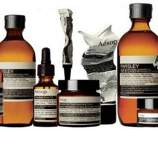 Aesop skincare wholeset full size (Total 4 items)