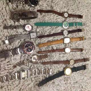 Upcoming sale branded watches.