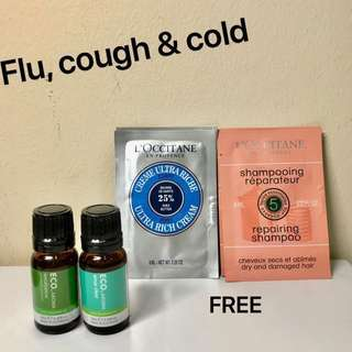 ECO. AROMA EUCALYPTUS+SINUS CLEAR BLEND SET. Australian Oils Blend to aid the symptoms of Sinus, Cold and Flu. This blend is of PHARMACEUTICAL GRADE. 100% PURE ESSENTIAL OIL. 10ML. Brand New.