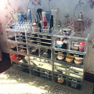 Valentines day gift Acrylic make up drawer cosmetic storage