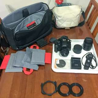 Canon EOS Rebel T2i / 550D + Lenses + Lots of Accesories
