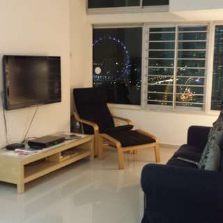 BUGIS/ NICOLL HIGHWAY MRT... 2+1 THE PLAZA APT FOR RENT, PANORAMIC SPORE FLYER & SEA VIEW.