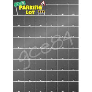 Classroom Post-it Parking Lot Chart (45 Lots)