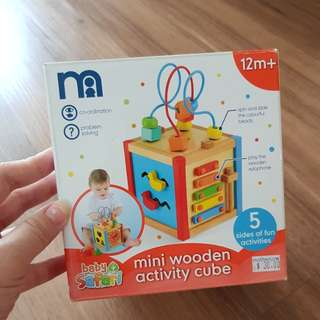 Mini Wooden Activity Cube / children toy