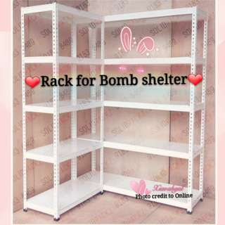 """**RESERVE**🔴50% OFF➡️ MY FOLLOWERS ONLY!!🔴🌟NEW; bought $399🌟➡ LESS THAN 2 YRS! (PUT Tissue/Toilet paper/Collectibles on it)🌟AUTHENTIC Storeroom/ Bomb Shelter 5 levels """"L Shape"""" racks!💋Refer to description= better deals!💋 No Pet No Smoker Clean Hse"""