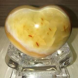 Natural Heart Shape Agate - 天然心形玛瑙 - 270g