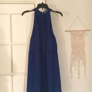 Barely Used Beautiful Cobalt Blue Dress Size Small