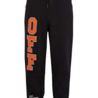 Off-White logo print track pants