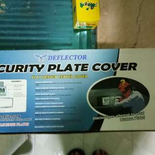 Security plate cover for toyota