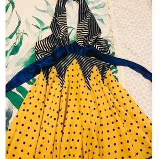 Unique & colourful halter dress
