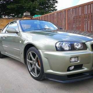 Nissan Skyline R34 V-Spec 2 Nur Thai registration