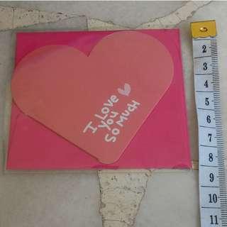 Valentine's day card - heart shape