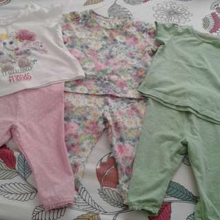 Mothercare blouse and leggings