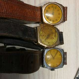 Late 1930s/ Early 1940s Gents Swiss Watches (Rolled Gold and Stainless Steel)