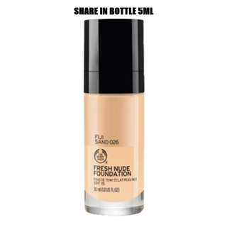 026 THE BODY SHOP FRESH NUDE FOUNDATION - SHARE IN JAR 5ML