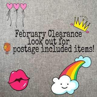 ❤️ February Clearance