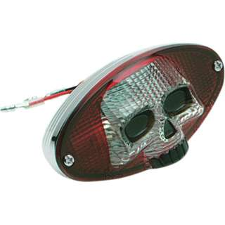 Motorcycle 3D Skull Face Tail Light with Signal light universal