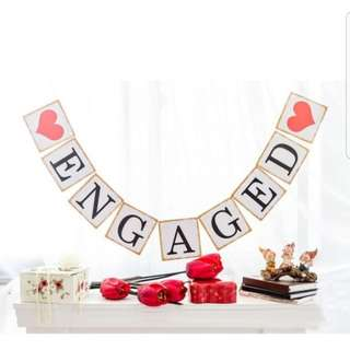 Engaged party garland
