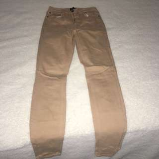 Beige Bardót jeans