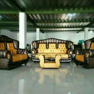 Kursi sofa tamu ukir