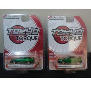 GreenLight Green Machine (Chase Pieces) Tokyo Torque: 2001 Nissan Skyline GT-R R34 M-Spec