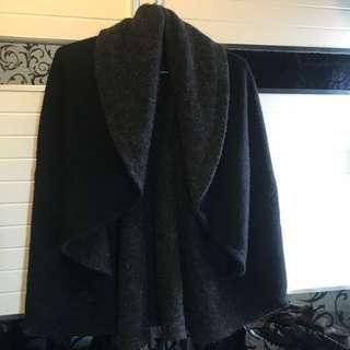 Initial darkness jacket 暗黑系外套 外套 free size 黑色披肩外套 cape